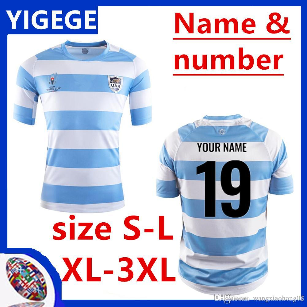 2019 World Cup Argentina Home rugby Jerseys UAR national team Rugby Argentina HOME RUGBY WORLD CUP 2019 JERSEY Size S-XXXL (can print)