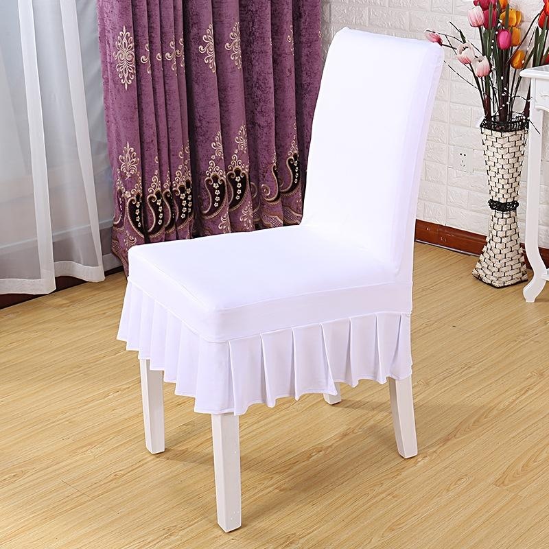 YRYIE 1pc Ziyafet Spandex Stretch Elastik Sandalye Katı Renk Yarım Etek Koltuk Kılıfı için Restoran Sandalye slipcover Yemek Kapakları