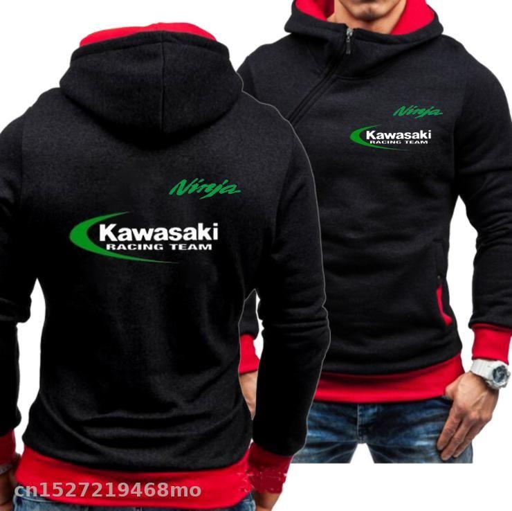 NEW Kapuzenpulli Männer Sports Casual Wear Seite Zipper Outwear Motorrad für Ninja Hoodies Racing Fahrt Sweatshirts