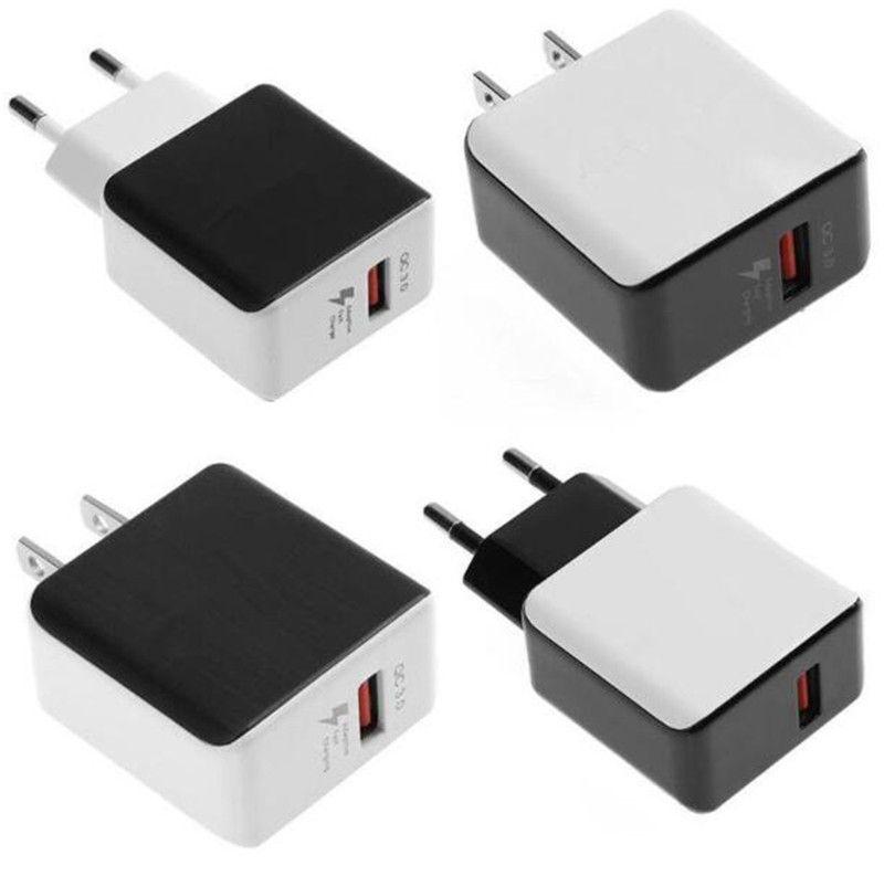 5V / 9V / 12V Rápido Carga Rápida QC 3.0 Adaptador de Carregador de Parede Casa de Viagem USB para iphone XS max xr