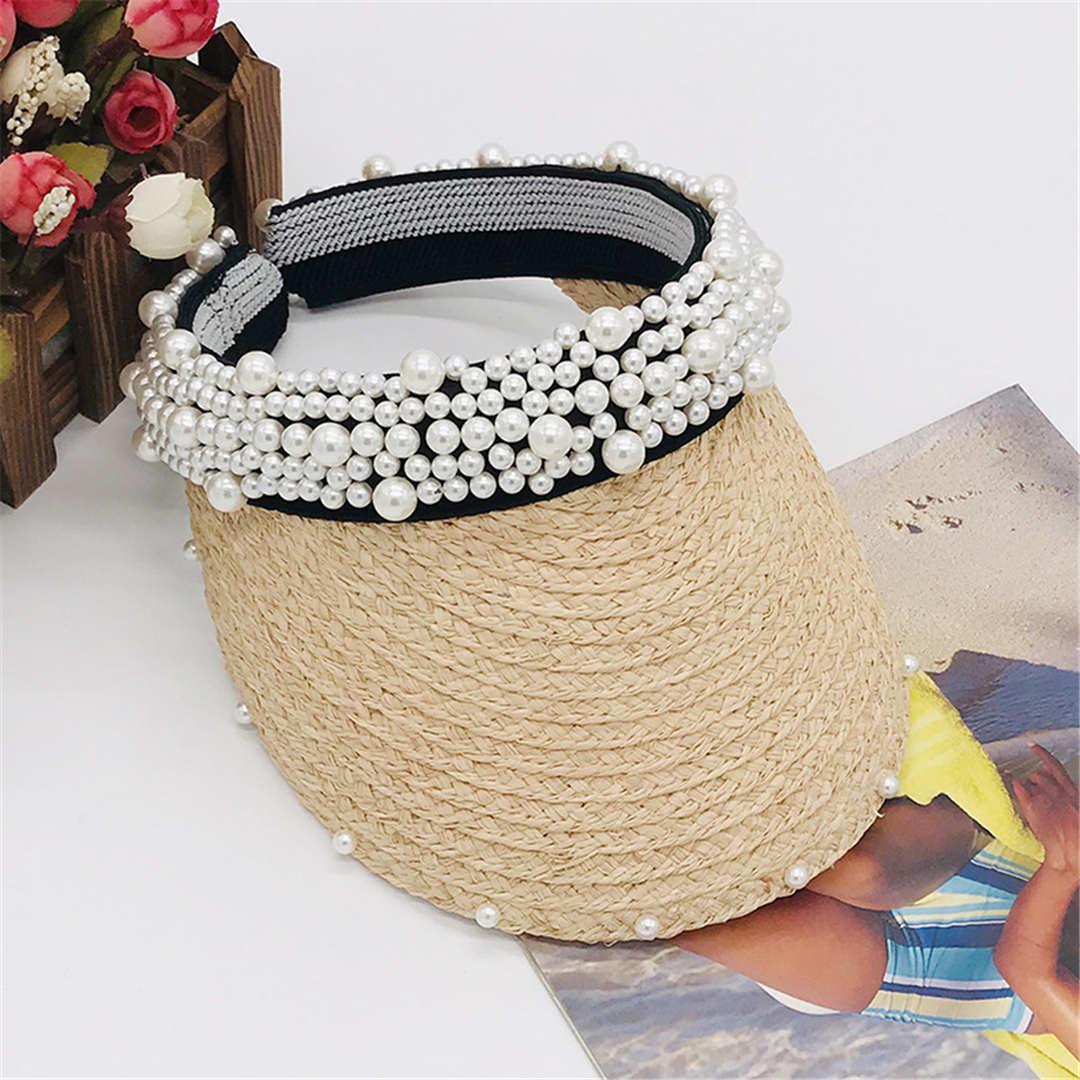 لؤلؤة قبعة الصيف المرأة أقنعة Casquettes قبعات مصمم كاب شاطئ قبعات الساخن الأعلى قبعة عالية الجودة