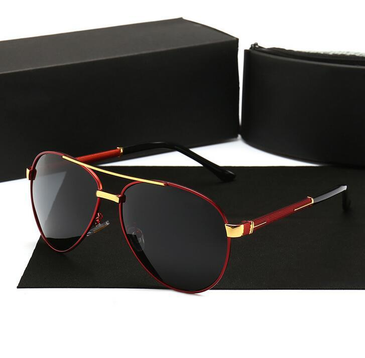 P8857 Brand Car Eyewear Sunglasses Mens/Women Polarized Sunglasses Outdoor Driving Classic Mirror Sun Glasses Men Metal Frame UV400 Eyeglass