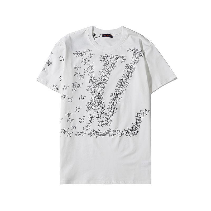 Erkek Tasarımcı T Gömlek Pamuk Siyah Beyaz T Shirt Moda Casual Tişörtlü Erkek Giyim Gömlek Yaz Mürettebat Boyun Kısa Kollu