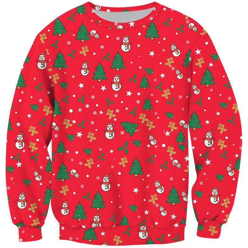 Cloudstyle Christmas Trees Printed Mens Sweatshirts Winter Fashion Hoody Full Sleeve Pullovers Jumper Hoodies 3D Bear Coats 5XL
