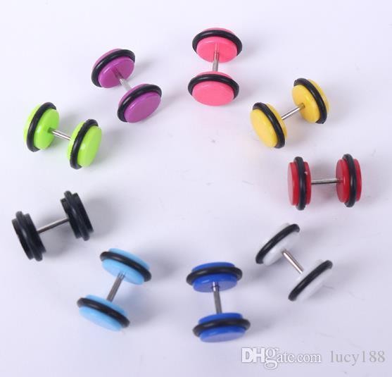 2.019 menina wafer brincos de cor multi-select piercing jóias atacado mulheres acrílico brinco estilo Euramerican atacado