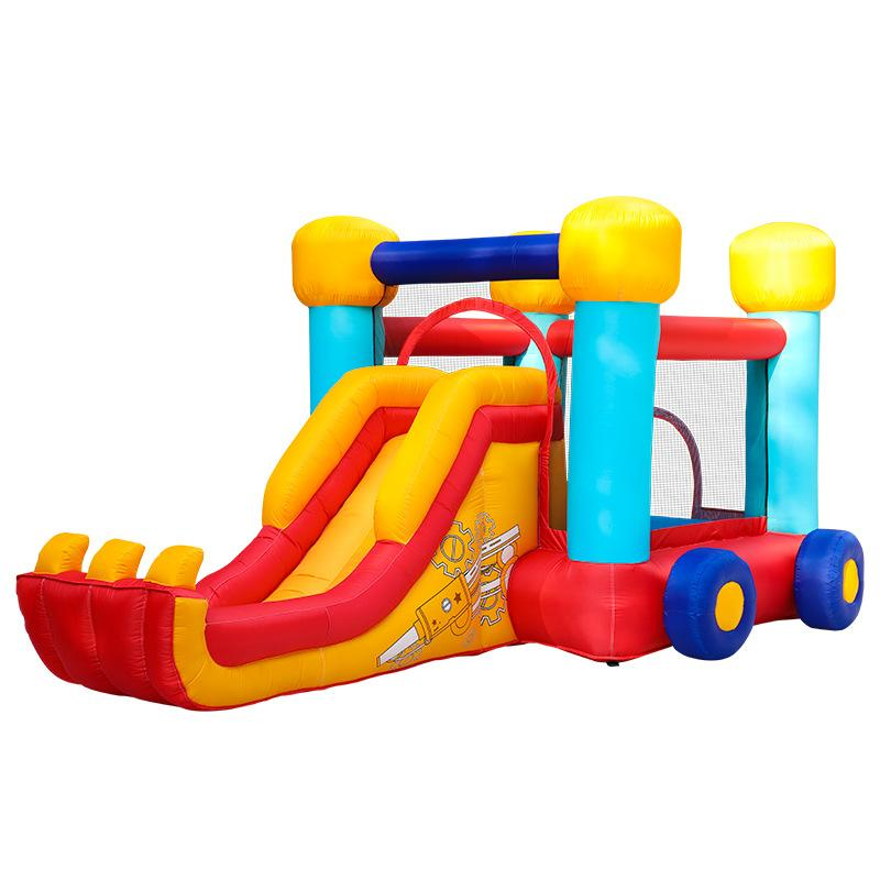 Royal Bouncy Castle For Children Inflatable Play Area With Reinforced Slide And Climbing Wall Blower Included