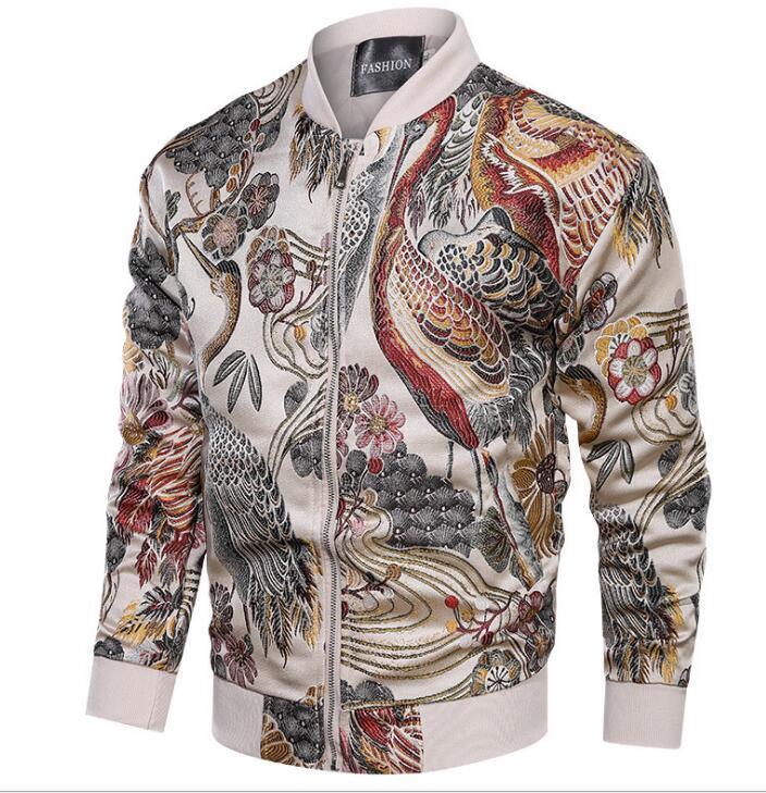 2020 Sping Nuovo Zongke giapponese ricamo uomini del cappotto del rivestimento uomo Hip Hop bombardiere cappotto Streetwear Abbigliamento Cappotti