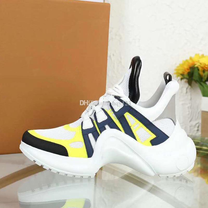أحذية فاخرة أحدث ARCHLIGHT أحذية عالية الجودة رجل امرأة عارضة الأزياء مصمم أحذية الحجم 35-44 نموذج CX06