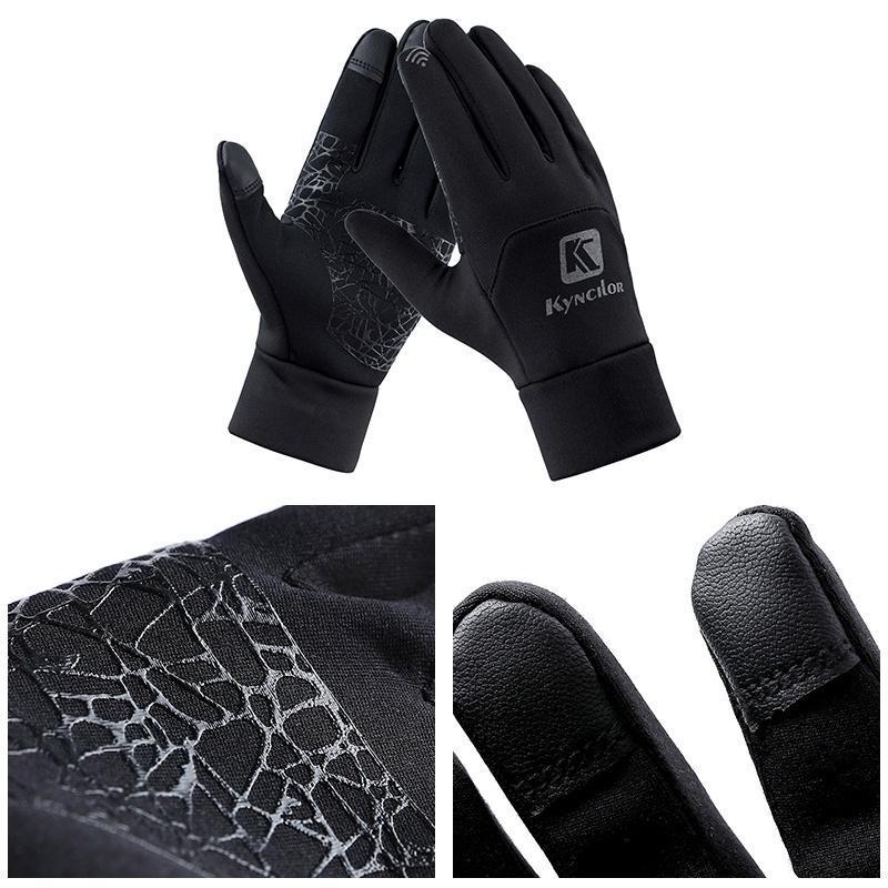 Guanti antivento Fleece sci antiscivolo Touch Screen termica Finger completa donne degli uomini unisex Outdoor Sport Ciclismo Guanti da snowboard