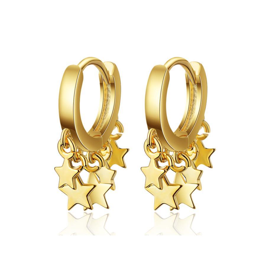 Mode Gold Silber Farben-Band-Ohrringe Luxuxentwerfer Stern-Ohrring für Frauen Korea Stud Schmuck New Year Geschenke
