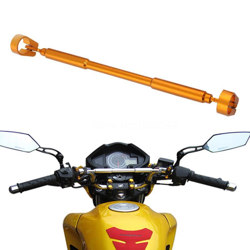 """Universal Motorcycle 7/8"""" Strengthen Hand Lever Head Balance Handle Bar Fat Bar Cross Cross Brace Dirt Pit Bike ATV Golden"""