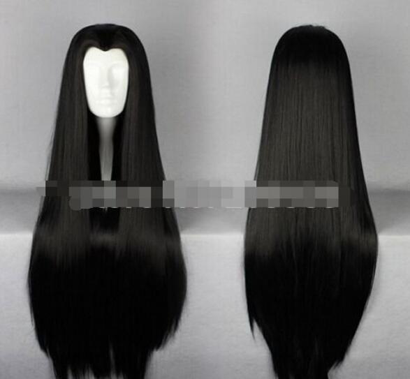 ÜCRETSIZ SHIPPIN + + + Uzun Siyah Cosplay Kostüm Peruk