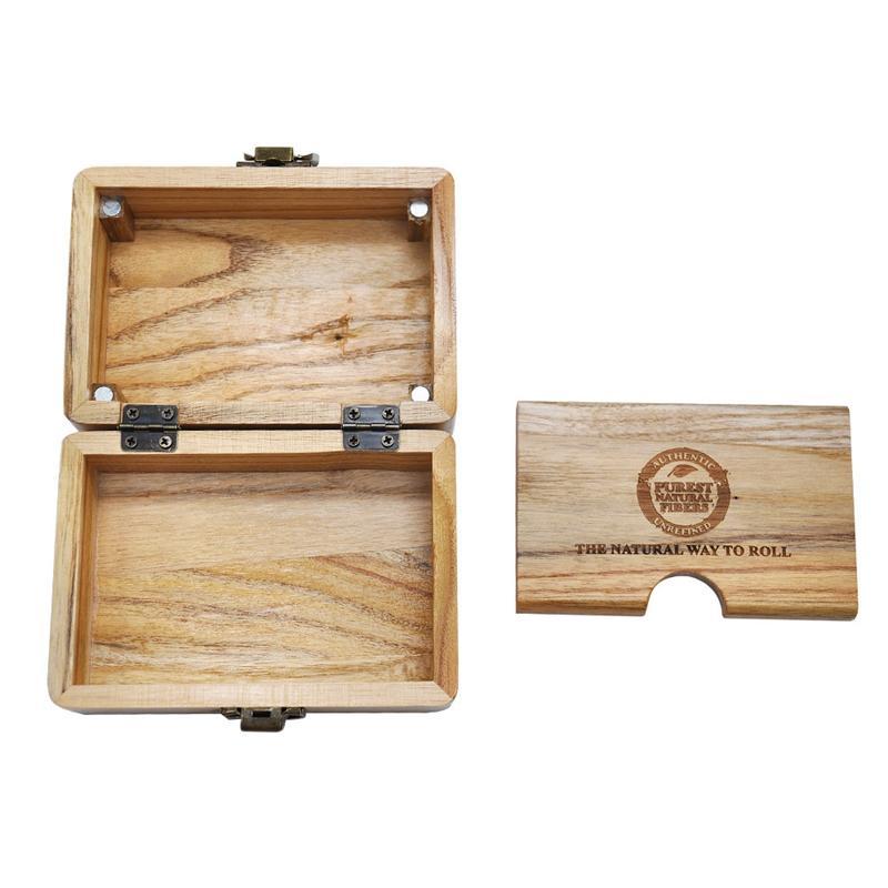 Tragbare natürliche handgemachte Holz Stash Rollkoffer Handroller Schachtel Holz Tabak-Zigaretten-Kraut-Rolle-Aufbewahrungsbehälter Smoking Pipe Zubehör