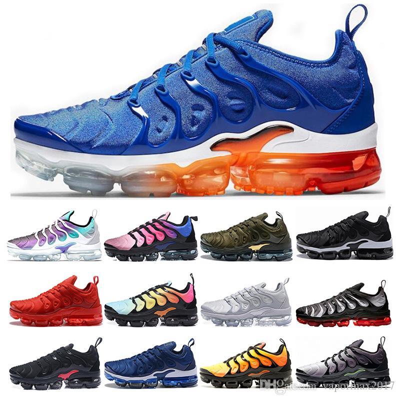 Nike air vapormax tn plus Oyun Kraliyet turuncu ABD Erkek Kadın koşu ayakkabı Mandalina nane Üzüm Volt Hiper Menekşe eğitmenler Tasarımcı Spor Sneaker Boyutu 36-45