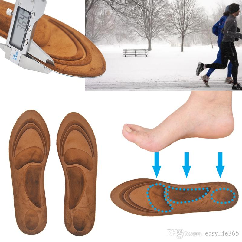 4D Suede Memory Foam Orthotic Insole Arch Support Orthopedic Insoles Shoe Pads