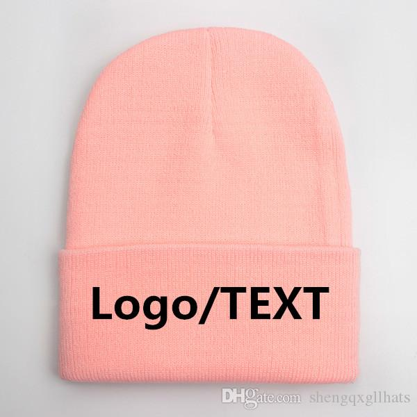 Hot Personalization Custom beanies Hat Adult Elastic Winter Warm cap Embrodiery logo Skullies & Acrylic Beanies Normal big size Apparel hats