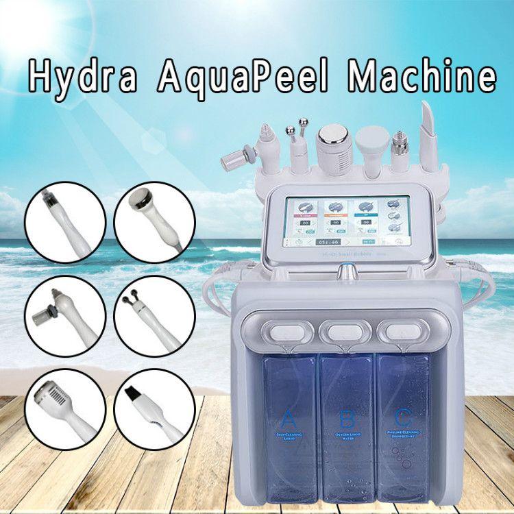 6in1 H2O2 Hydra Dermabrasion RF Bio lift Spa Facial Machine Hydro Microdermabrasion Facial Machine water aqua peel Cold Hammer Oxygen spray