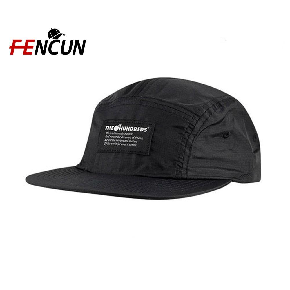 Özel Dokuma Ve Nakış Logolu Caps Ve Şapka Camper Toptan Yapılandırılmamış 5 Paneli Polyester Snapback Şapka Custom çekin sırtları