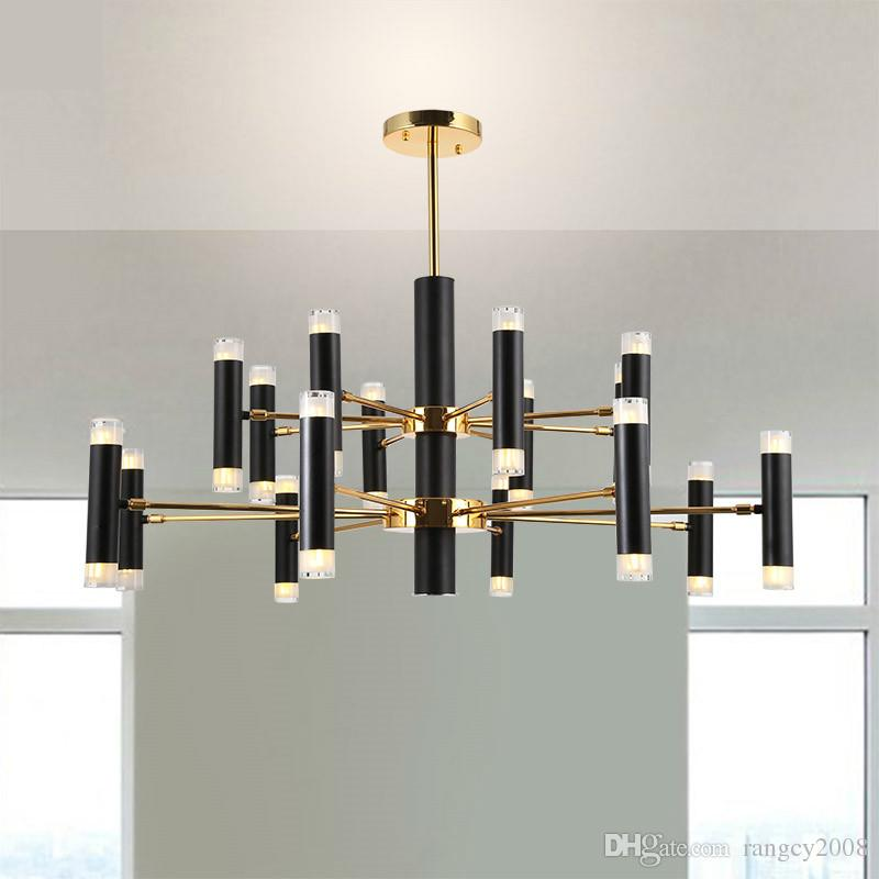 Nordic Minimalism Rotatable Metal Led Chandelier for Living Room Black Gold Lustre G9 Led Pendant Chandelier Indoor Lighting