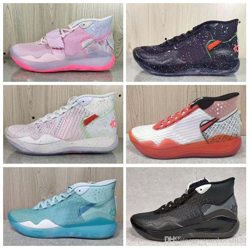 New Arrival Kevin Duran 12 Aunt Pearl Kay Yow Sneakers sales With Box Hot KD 12 Basketball shoes Sport SHOES wholesale size 40-46