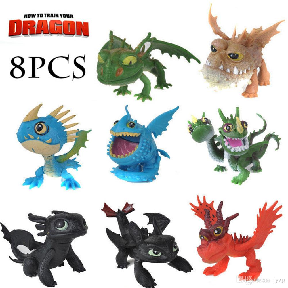 8pcs/set How to Train Your Dragon 3 Figure Toys Night Fury Toothless Dragon Model Doll Toy Best Christmas Gifts For Kids