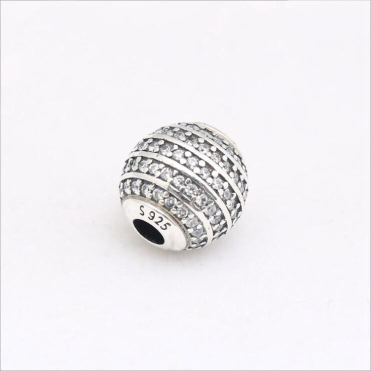 2020 Nuovo autentico Argento 925 Essenza Condifence Beads Charm Con completa CZ Fit Pandora Charms Essence Fare i monili del braccialetto fai da te