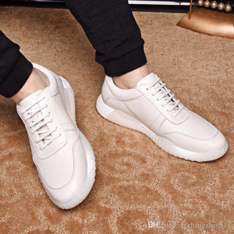 Осень и лета 2019 года новой корейской версии новая тенденция чистая кожа головы слой воловьей кожи просто чувствовать себя комфортно мужская досуг обувь чистого c