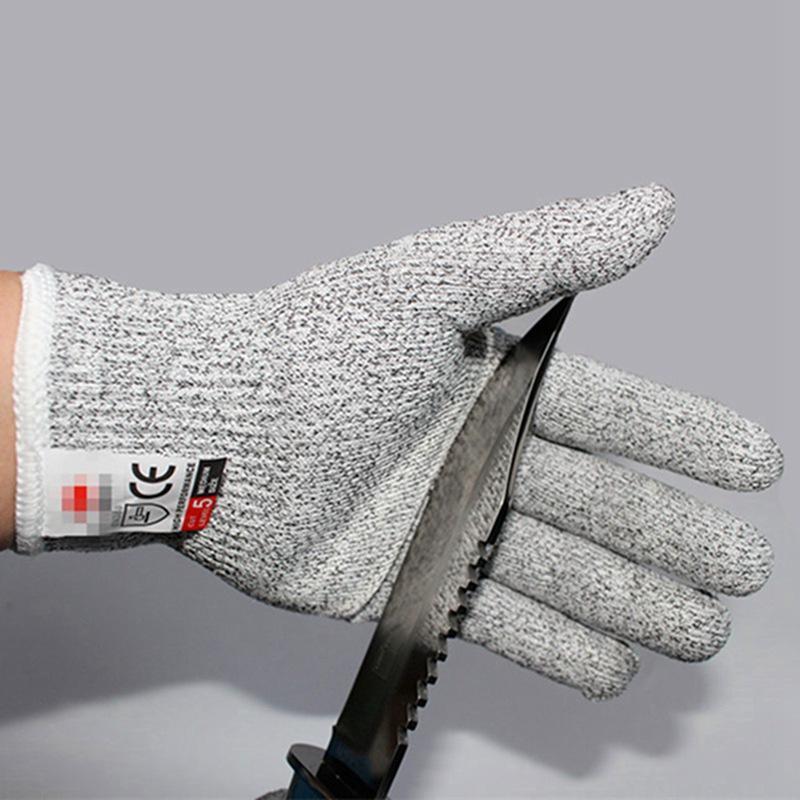 Level 5 Anti-Cut-Handschuhe Schutz Cut Proof stichsichere Edelstahl-Draht Metall Butcher schnittfeste Schutzhandschuhe Wandern