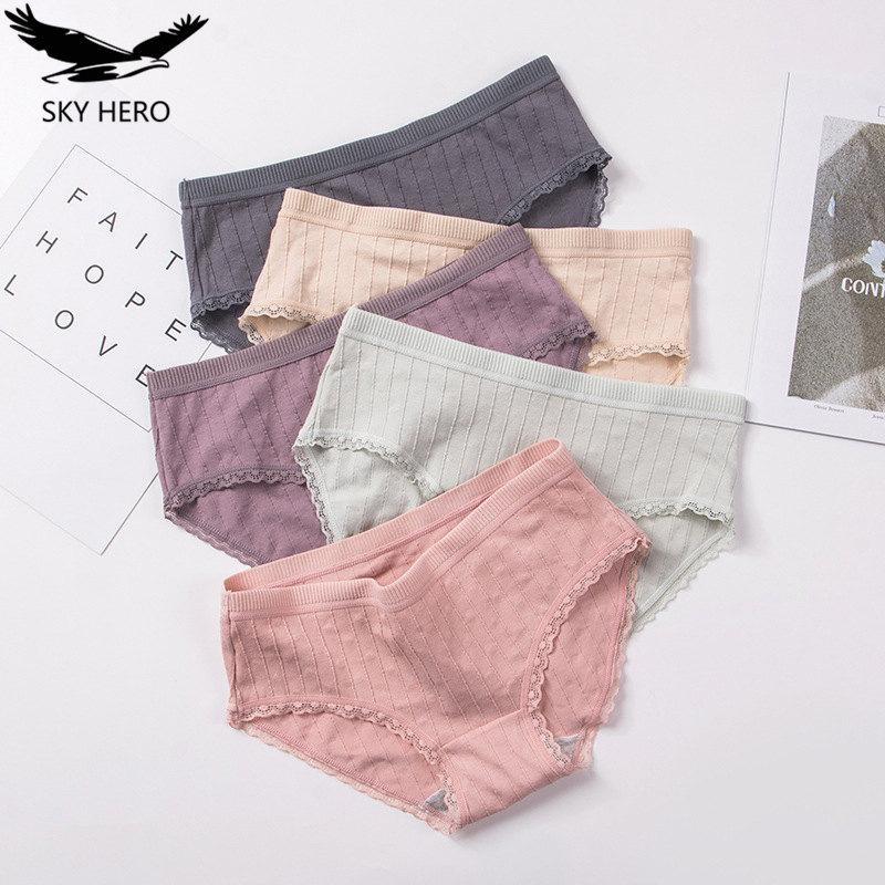 3pcs/lot Sexy Women Panties Lace Briefs For Women Fashion Bow Floral Panty Girls Underwear Large Pants Female Lingerie