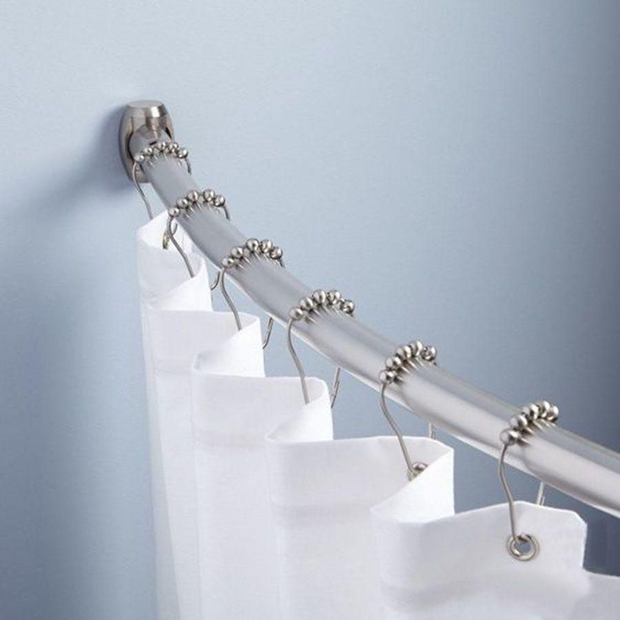 홈 욕실 액세서리 12PCS 실용 커튼 후크 스테인레스 스틸 목욕 롤러 샤워 커튼 후크 글라이드 링 후크 DH0909