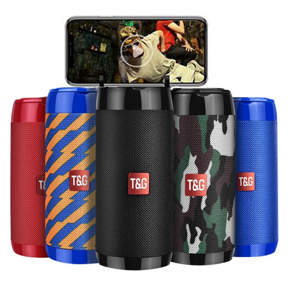 TG113C Colonne Portable Portable Bluetooth Bluetooth Mini-haut-parleur avec Radio Subwoofer étanche FM Subwoofer sans fil Loundpeakers Titulaire de téléphone