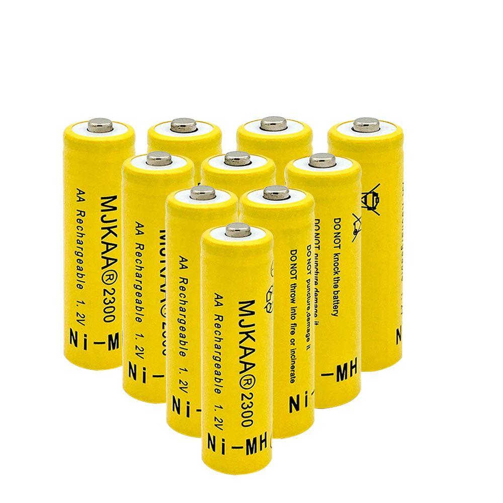 الجملة 80PCS رخيصة AA بطارية 1.2V AA 2300mAh متولى حسن مسبقا-شحن البطارية 2A Baterias لمصباح يدوي كاميرا