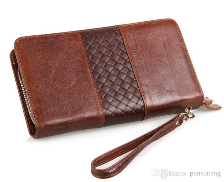 Fashionable Vintage cardboard first-tier cowhide manufacturer directly sells zero-wallet first-tier cowbag handbag
