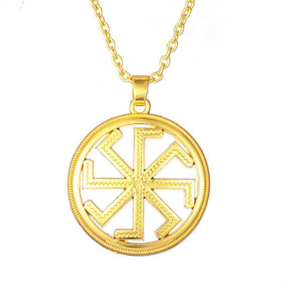 Slavic Symbol Kolovrat Amulet Pendant Slavic Pagan Talisman Necklace Jewelry
