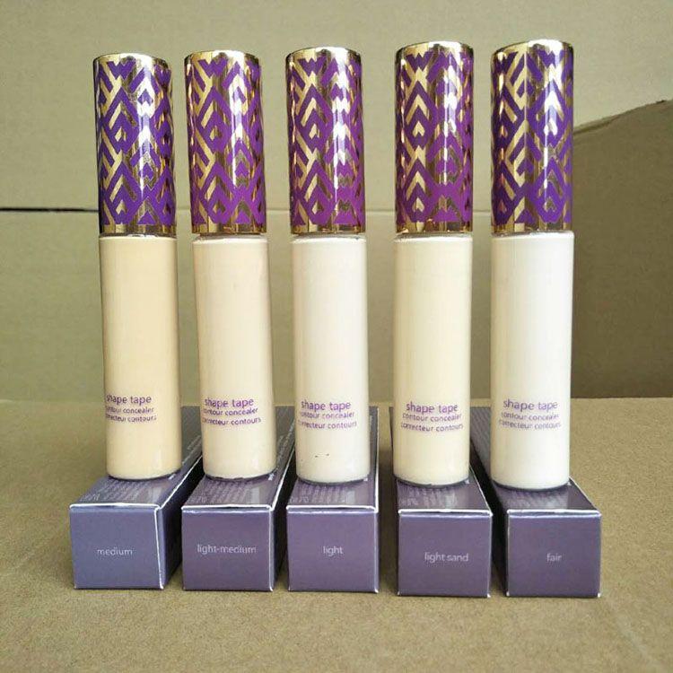 Fundação Concealer Foundation Primer Forma Tape Concealer 5 cores Face Maquiagem Corretivo Fair Light Luz médio areia Luz Medium Cottect
