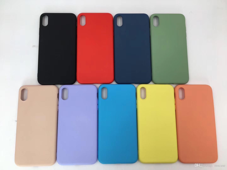 9 farben flüssiges silikon für iphone 6 7 8 9 plus xs max xr flüssiges gummi silikon tpu abdeckung case pouch