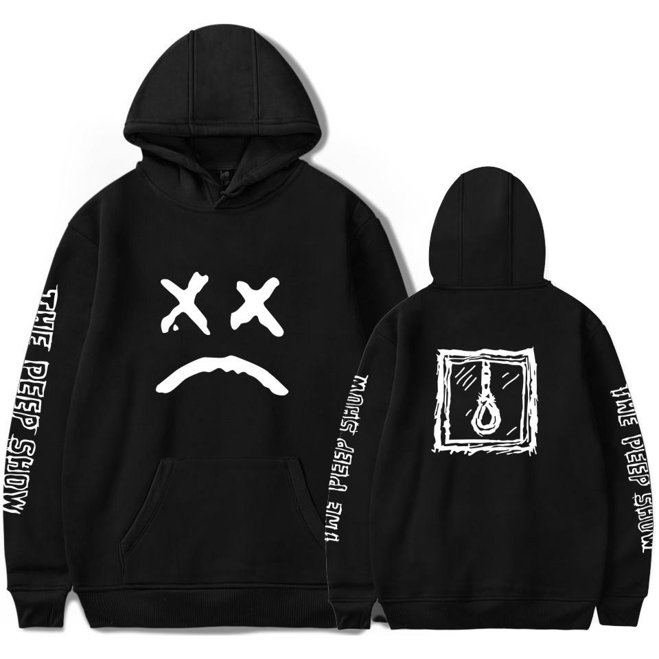Lil peep funny hoodies imprimés sweatshirts plus tailles pour hommes casual polaire streetwear hoodies pleurer bébé lil peep