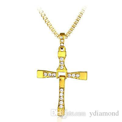 2019 cross-border hot sales hot manufacturers wholesale torredo speed and passion 8 cross pendant necklace men's necklace