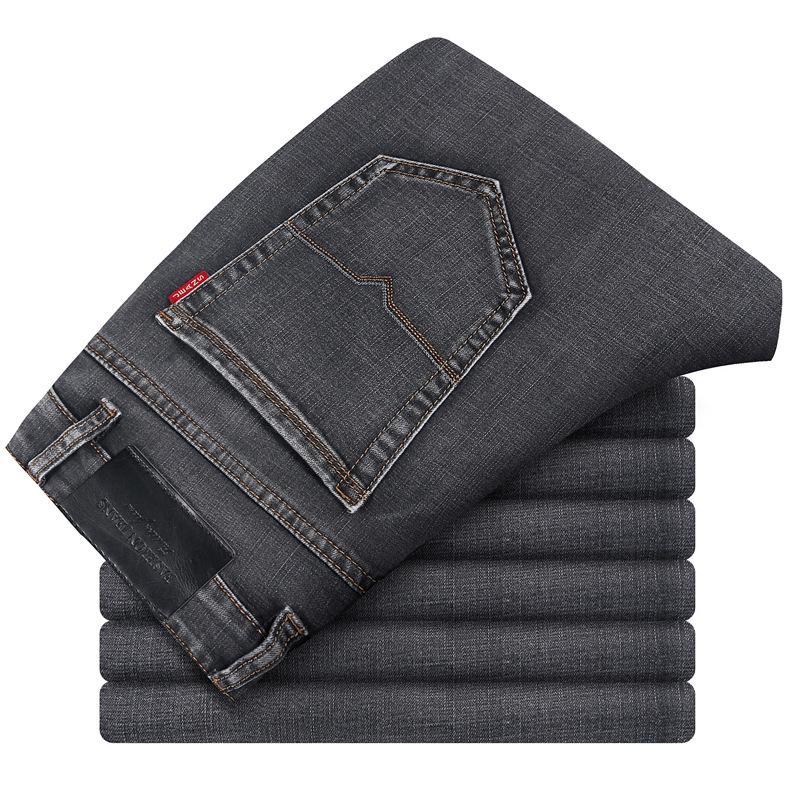 2020 nuevos pantalones de algodón Denim Primavera flacas Denim Jeans Los hombres adelgazan los pantalones vaqueros clásicos de los hombres de alta calidad de los pantalones para hombre suave