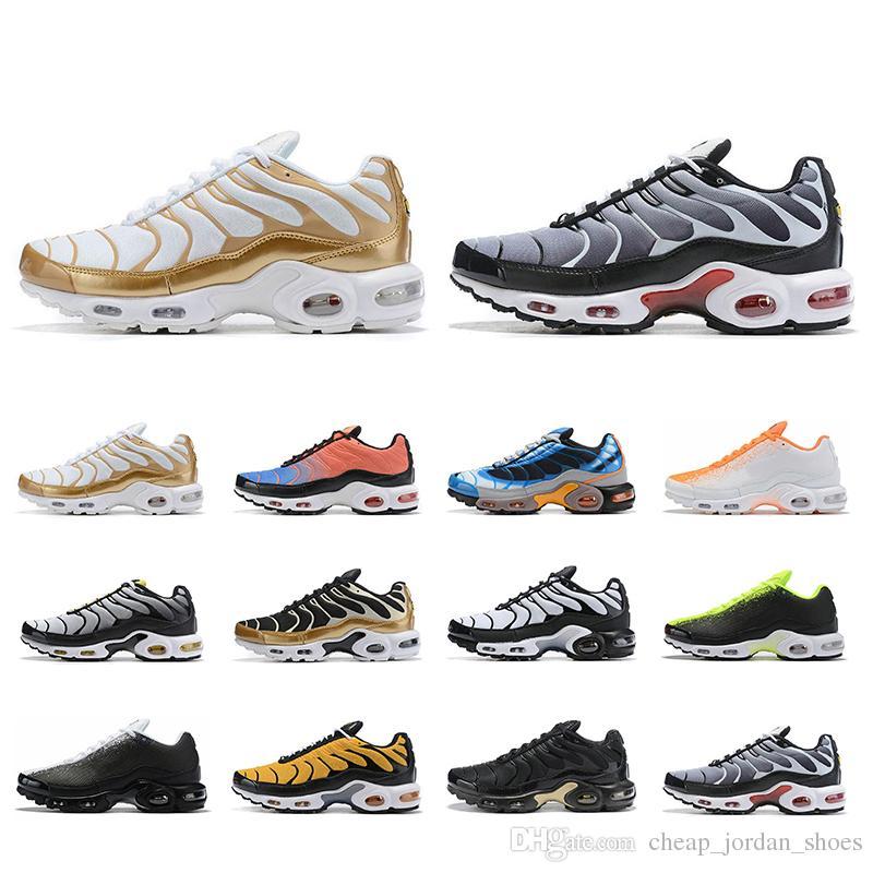 Date 2019  plus TN Utral NOIR blanc orange formateurs mens SE Chaussures De Course Chaussures Athletic Sports Sneakers