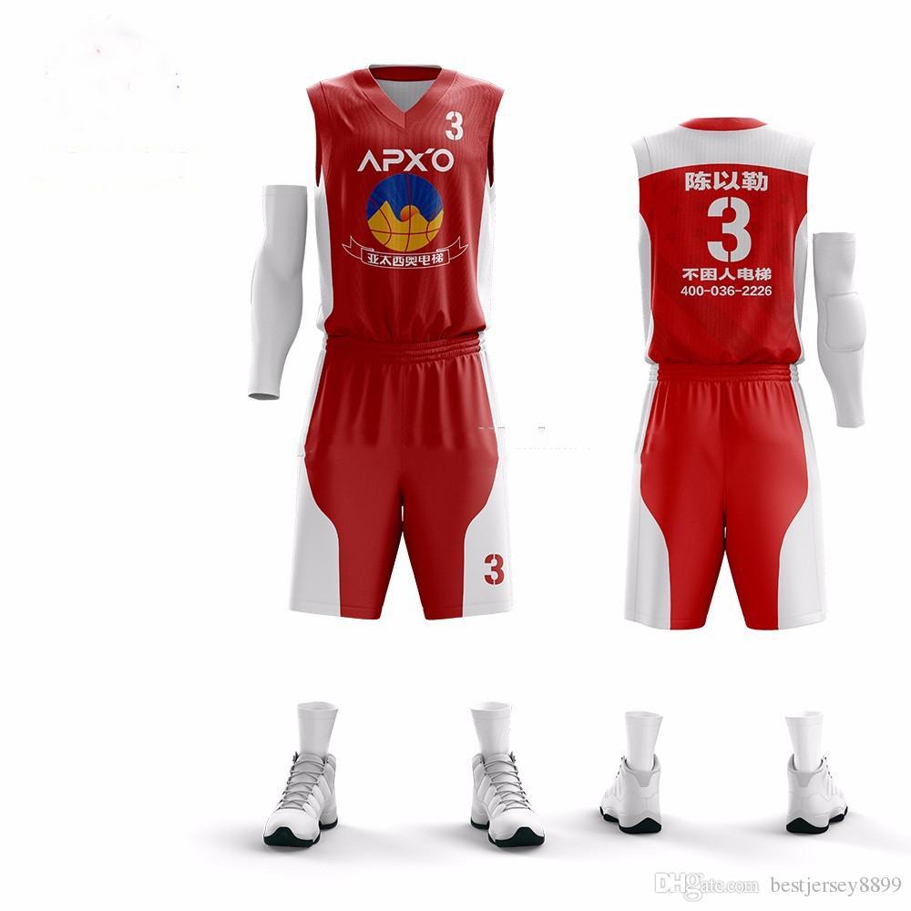 Diy homens jerseys basquete uniformes de basquete barato conjuntos camisa sem mangas team training sport jerseys quick dry roupas ao ar livre