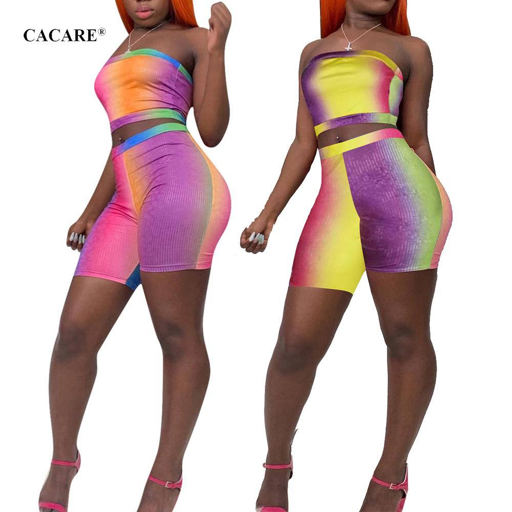 Mulheres Conjuntos De Roupas Mais Barato Sexy Verão 2 Piece Outfits Crop Top Shorts Set Tracksuit 2 Cores Escolhas F0260 Strapless