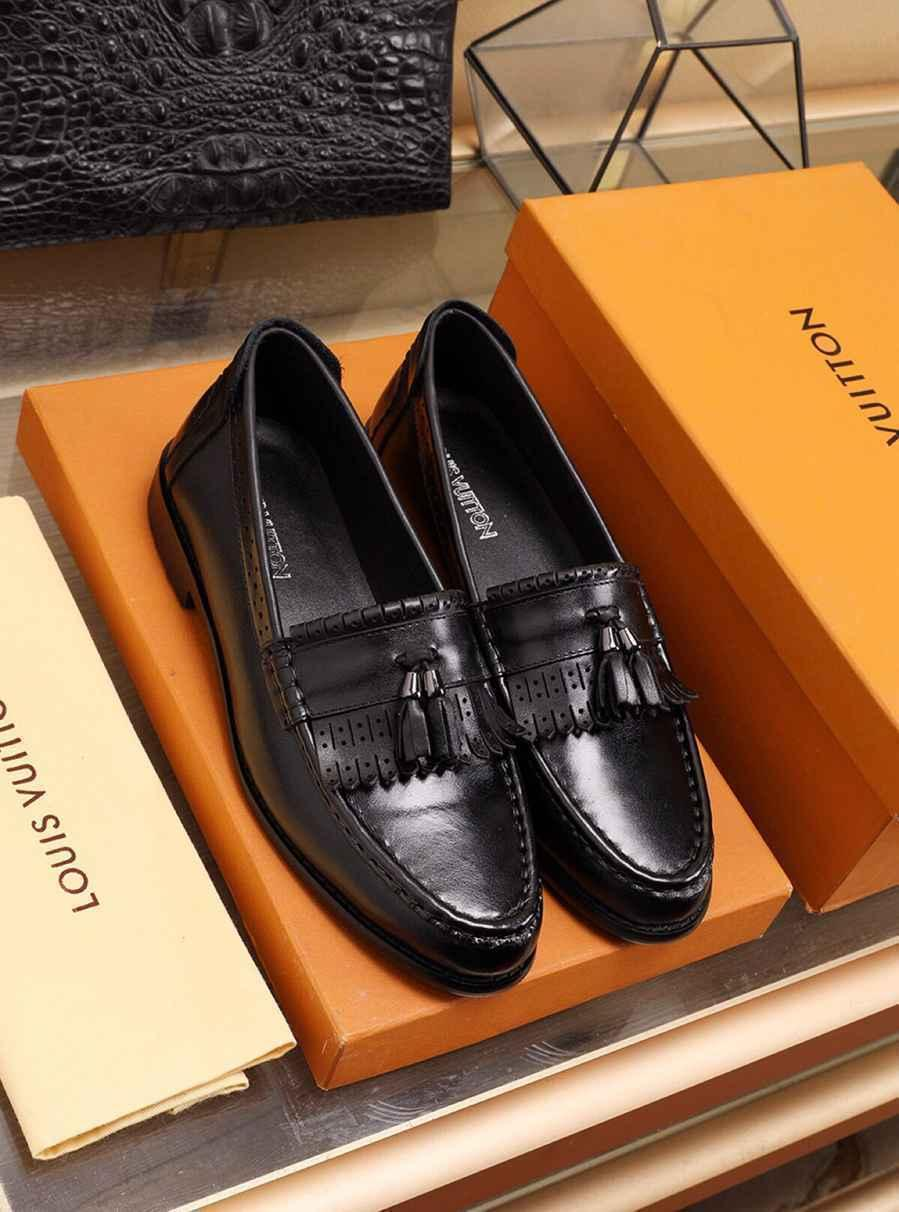 High quality gentlemen Classic business men's Tassels formal High end leather shoes 010701