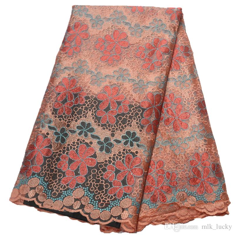 nigerian lace fabric for wedding high quality lace embroidered african tulle lace fabric for party dress