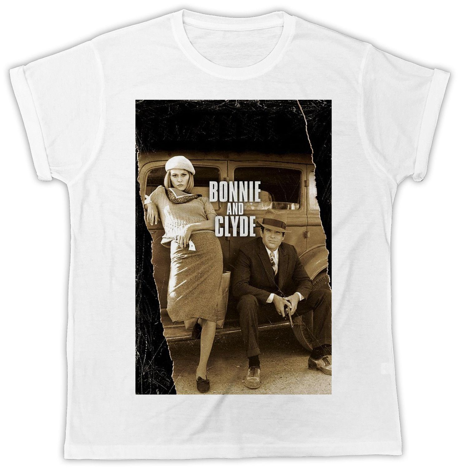 FUNNY BONNIE AND CLYDE MOVIE POSTER IDEAL GIFT PRESENT UNISEX COOL T SHIRT