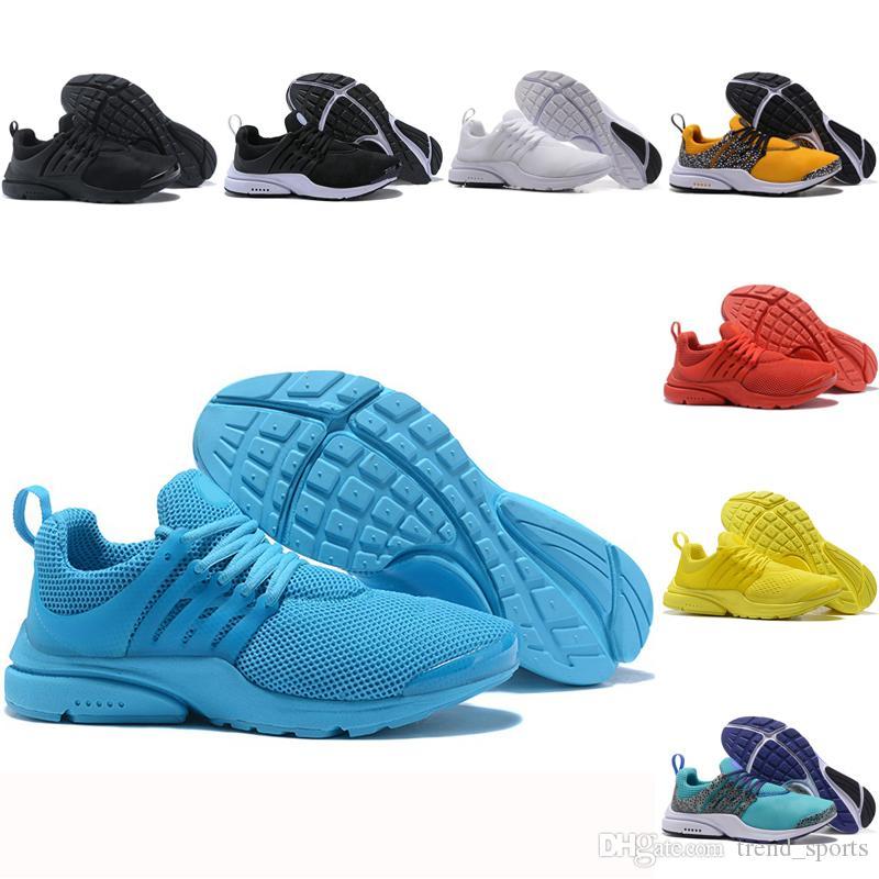 Compre Nike Air Presto Flyknit Ultra Mejor Calidad Prestos 5 V Zapatillas  Amarillas Para Hombre Mujer Presto Ultra BR QS Moda Triple S Fly Casual  Para ...