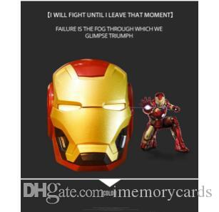 NEW Mobile phone Speakers Bluetooth V4.2 Iron Man Bluetooth Speaker Subwoofer With FM Radio Support TF Card For Phone PC Speaker