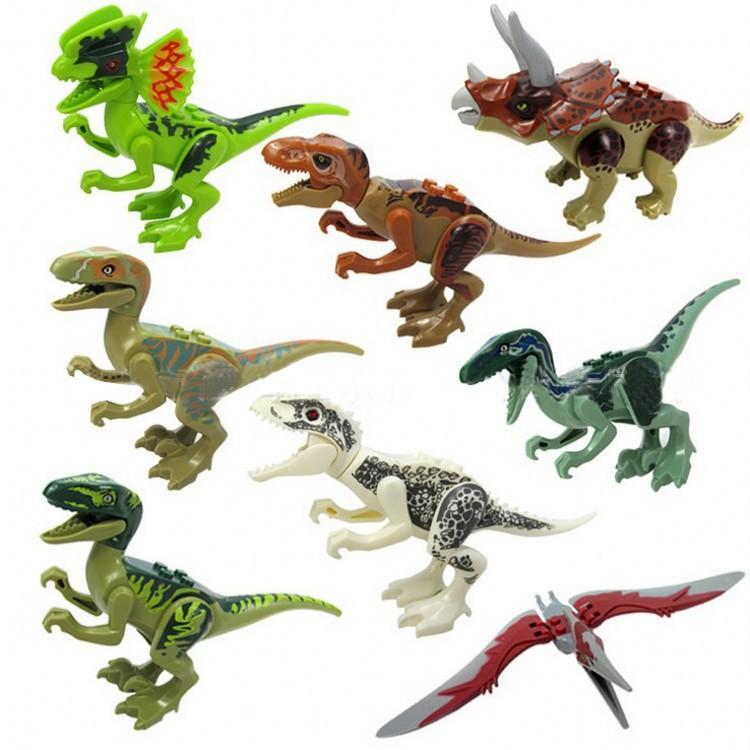 طوب الجوراسي ديناصور الشكل الحيوان البرية العالم t- ريكس صدى التيروصورات ترايسيراتوب indomirus ريكس بنة لعبة للأولاد