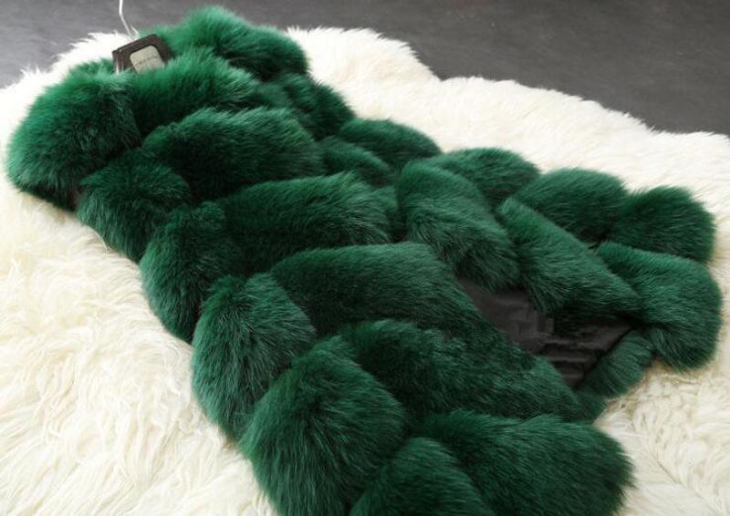 패션 여성 겨울 가짜 여우 모피 Gilet 양복 조끼 재킷 코트 조끼 착실히 보내다 Gilet 여성 따뜻한 Gilets 착실히 보내다 긴 슬림 조끼 가짜 여우 모피