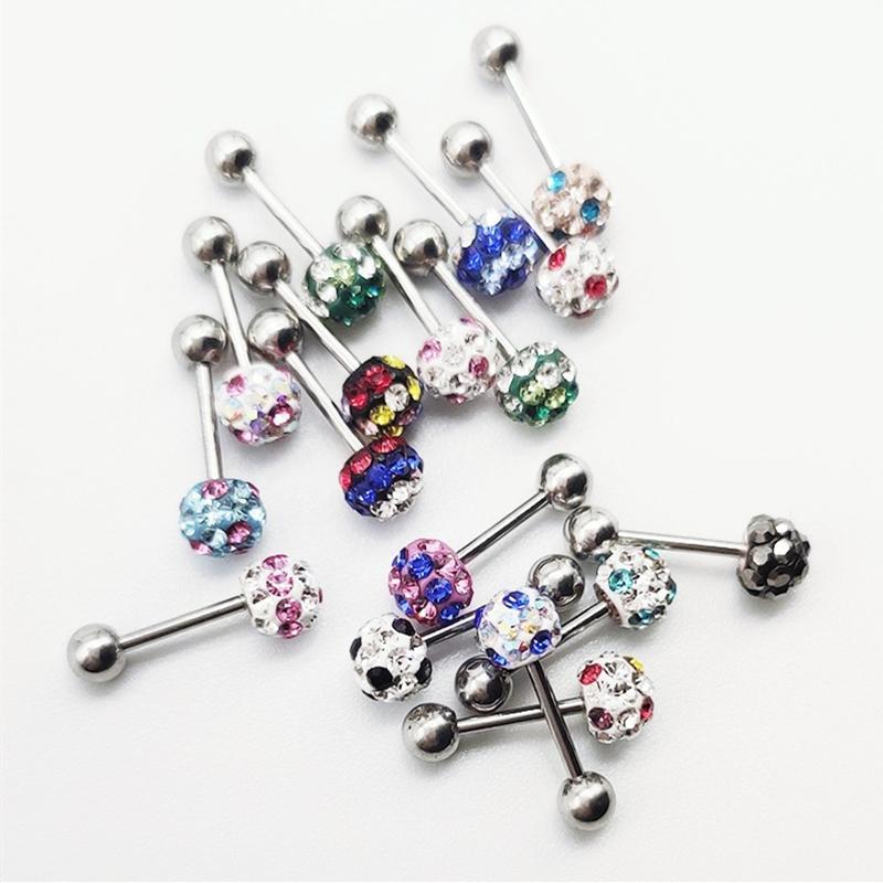 Pendientes de acero inoxidable de Shambala de la bola de la chispa 4 6 mmRound Mix Crystal Rhinestone Colores pendientes para las mujeres niñas